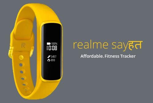 realme首款智能手环渲染图曝光 采用了realme标志性主题的黄色