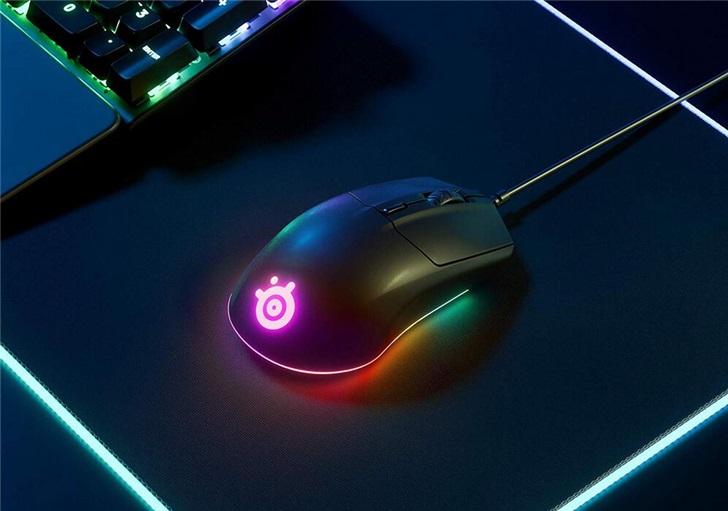 赛睿推出Rival 3鼠标:采用TrueMove Core新型光学传感器,在底部加入RGB环形灯带