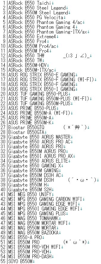 AMD B550主板型号全家福:55款型号全曝光