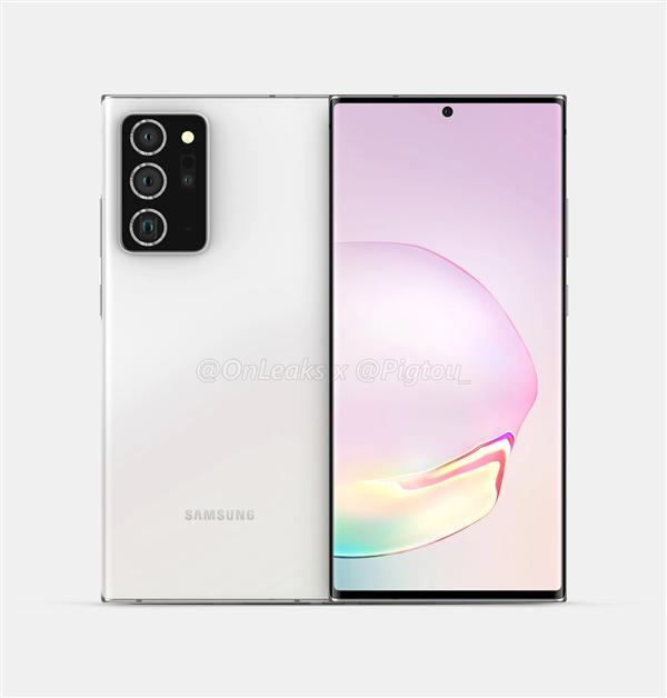 三星Galaxy Note 20+渲染图曝光:6.9寸OLED屏 首次加入潜望镜头
