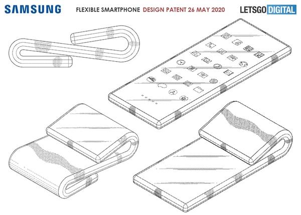 三星全新折叠屏专利曝光:允许用户上下折叠两次