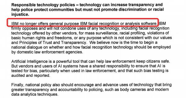 人脸识别原罪 IBM宣布放弃 网友:太晚了